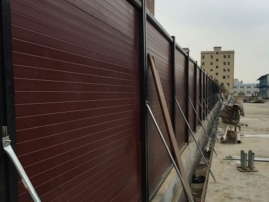 装配式木塑红板围挡